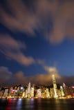 Hong Kong at Night_0230. Hong Kong cityscape by night Royalty Free Stock Photo