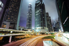 Hong Kong at night Stock Image
