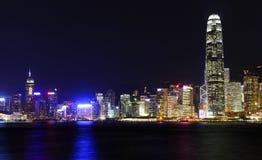 Hong Kong at night Royalty Free Stock Photos