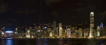 Hong Kong night. Panorama of Hong Kong Victoria Harbour at night Stock Images