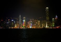 Hong Kong by night Stock Photography