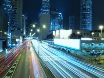 Hong Kong at Night. Amazing blue city of Hong Kong at night Royalty Free Stock Photo