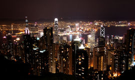 Hong Kong by night. A view of Hong Kong (China) by night stock image