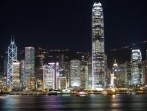 Hong Kong at Night. Hong Kong Buildings at night Stock Images