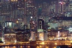Hong Kong at night Stock Image