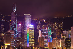 Hong Kong Night Stock Photography