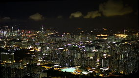 Hong Kong Night Foto de Stock Royalty Free