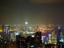 Hong Kong by night Stock Photos