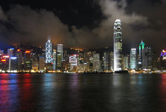 Hong Kong At Night. Taken from Kowloon Stock Photos