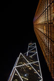Hong Kong by night stock photography