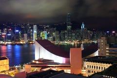 Hong Kong at night. View from an Hotel of Hong Kong at night Royalty Free Stock Images