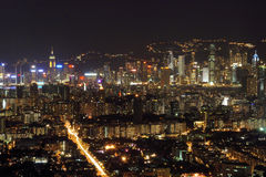 Hong Kong at Night Royalty Free Stock Images