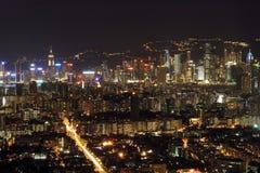 Hong Kong at Night. Hong Kong's night scene with Kowloon as foreground Royalty Free Stock Images