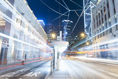 Hong Kong Night Car Trail Immagini Stock Libere da Diritti