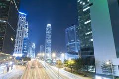 Hong Kong Night Car Trail Fotografia Stock Libera da Diritti