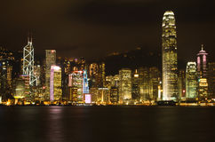 Hong Kong Night City Stock Images