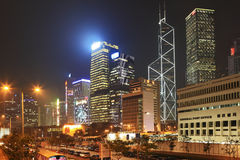 Hong Kong - Night city Royalty Free Stock Image
