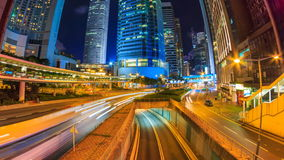 Hong Kong Night Cityscape Time Lapse stock video