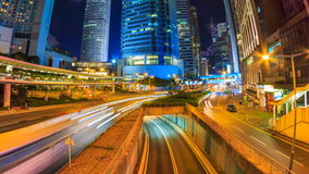 Hong Kong Night Cityscape Time Lapse stock footage
