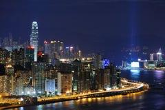Hong Kong night coast royalty free stock image
