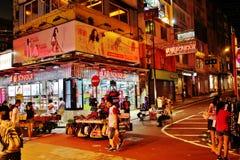 Hong Kong at night Stock Images