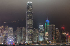 Hong Kong at Night Royalty Free Stock Photography