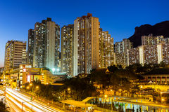 Hong Kong at night Stock Images