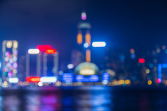 Hong Kong night lights after sunset Royalty Free Stock Image