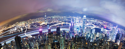 Hong Kong at night, long exposure Stock Image