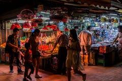 Hong Kong Night Market Fotografia Stock Libera da Diritti