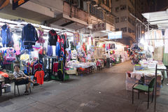 Hong Kong Night Market Stock Photos