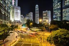 Hong Kong night rush Stock Photography