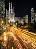 Hong Kong night rush Royalty Free Stock Image