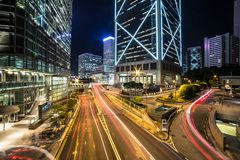 Hong Kong night rush Stock Photography