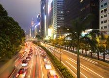 Hong Kong night rush Stock Image