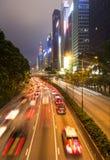 Hong Kong night rush Stock Photos
