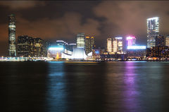 Hong Kong Night Scene Royalty Free Stock Images
