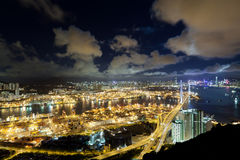 Hong Kong Night Scene Stock Image