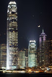 Hong Kong Night Scene Imagen de archivo