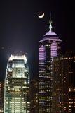 Hong Kong Night Scene Imagen de archivo libre de regalías
