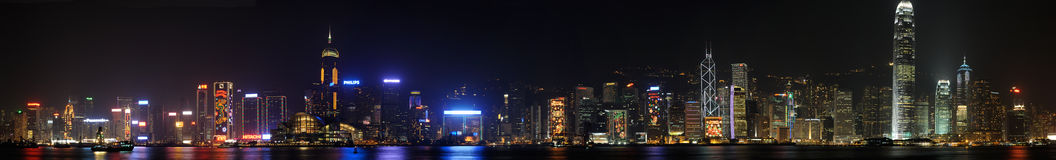 Hong Kong Night Scene at Christmas Stock Image