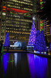 Hong Kong Night Scene with Christmas Tree Stock Photos