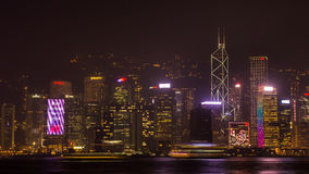 Hong Kong night. Shooting from Kowloon. Royalty Free Stock Image
