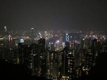 Hong kong 2018night; hong kong skyline royalty free stock photography