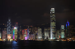 Hong Kong Night view. Hong Kong Victoria Harbour Night view royalty free stock images