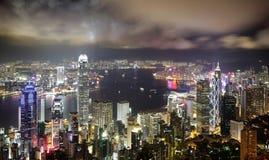 Hong Kong night view Stock Image