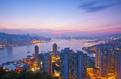 Hong Kong night view Royalty Free Stock Photo