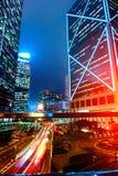 Hong Kong Night View Stock Afbeelding