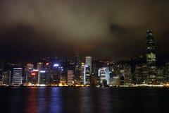 Hong Kong night view. Long exposure shot Hong Kong night view Royalty Free Stock Photography