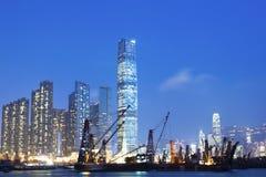 Hong Kong night view along the coast Royalty Free Stock Photos